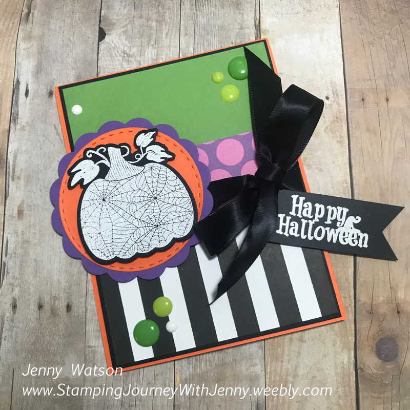 FSJ Martha's Pumpkins Jenny Watson - Fun Stampers Journey Coach 233 Details on my blog: www.StampingJourneyWithJenny.weebly.com Purchase the products used: www.FunStampersJourney.com/JennyWatson